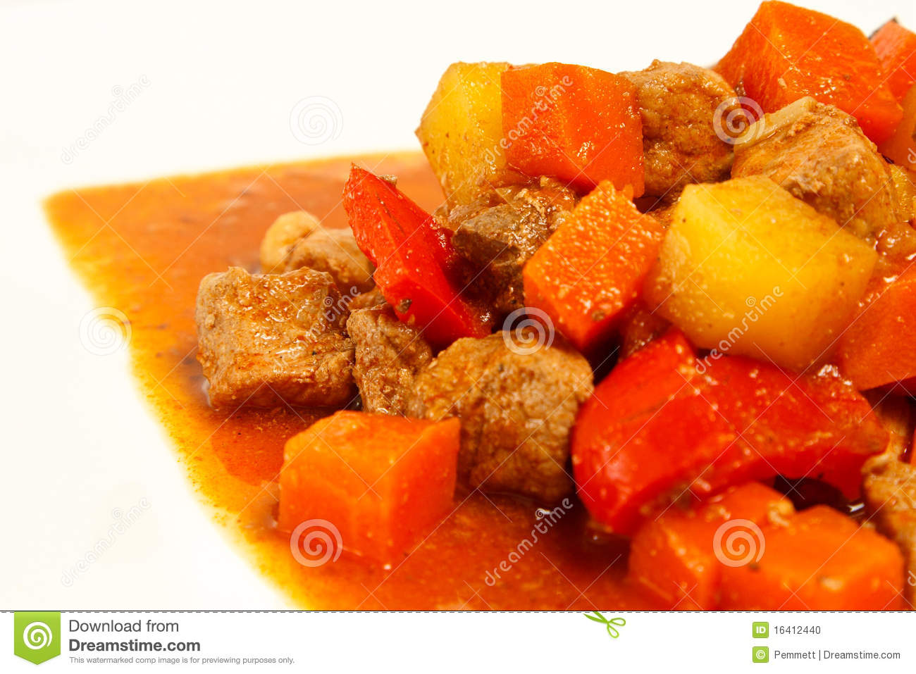 Of Pork Stew In A Dish  A Traditional Food From The Philippines