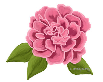 Pink Rose With And Without Leaves   Original Art Pink Rose Clip Art