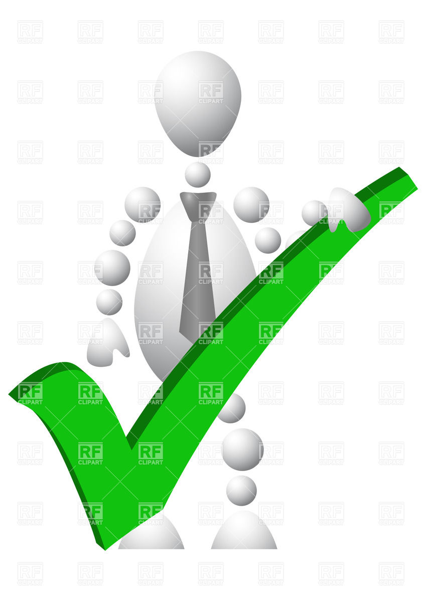 Positive Sign Clipart Man With Green Positive Symbol
