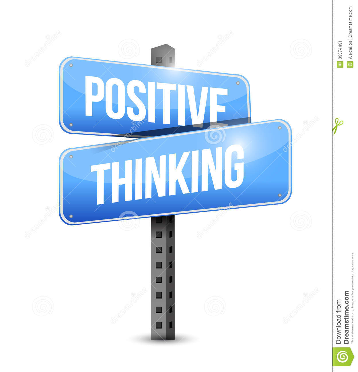 Positive Thinking Road Sign Stock Image   Image  33374431