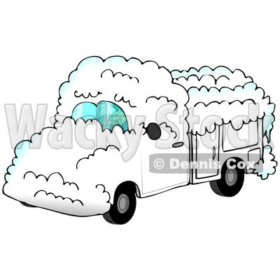 Royalty Free  Rf  Clipart Illustration Of A Man Driving A White