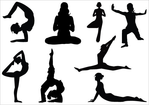 Yoga Clipart Free Silhouettes