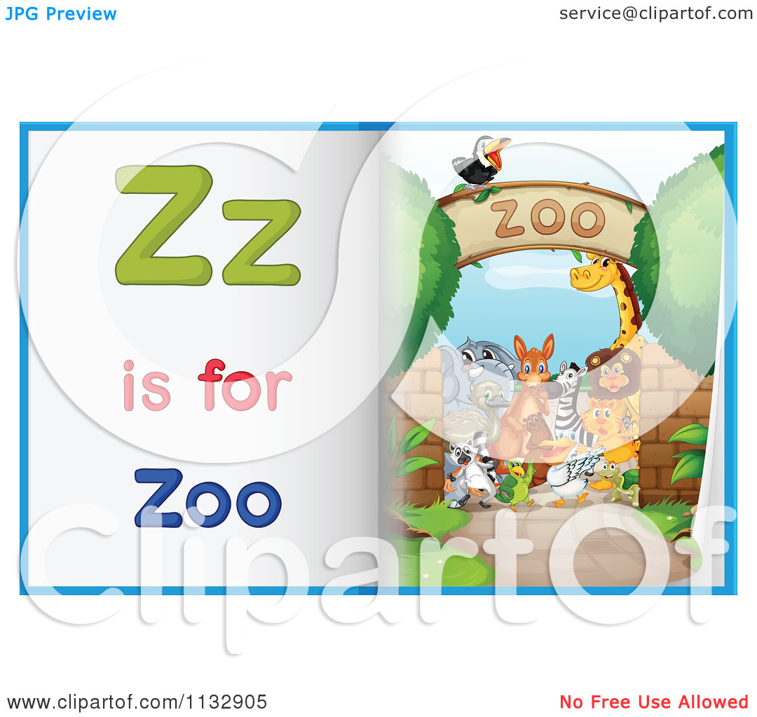 Zoo Alphabet Learning Pages   Royalty Free Vector Clipart By Colematt
