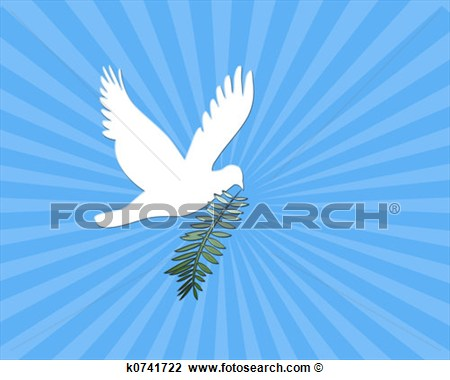 Clip Art Of Peace Dove K0741722   Search Clipart Illustration Posters