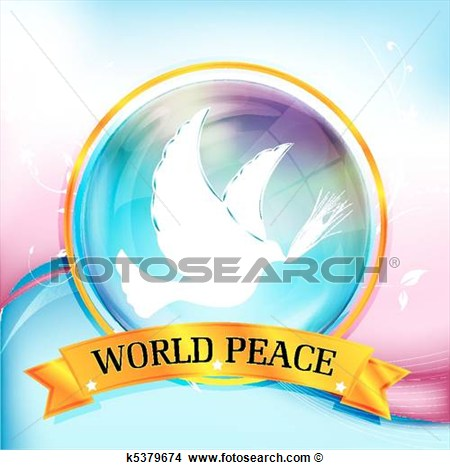 Clipart Of World Peace K5379674   Search Clip Art Illustration Murals