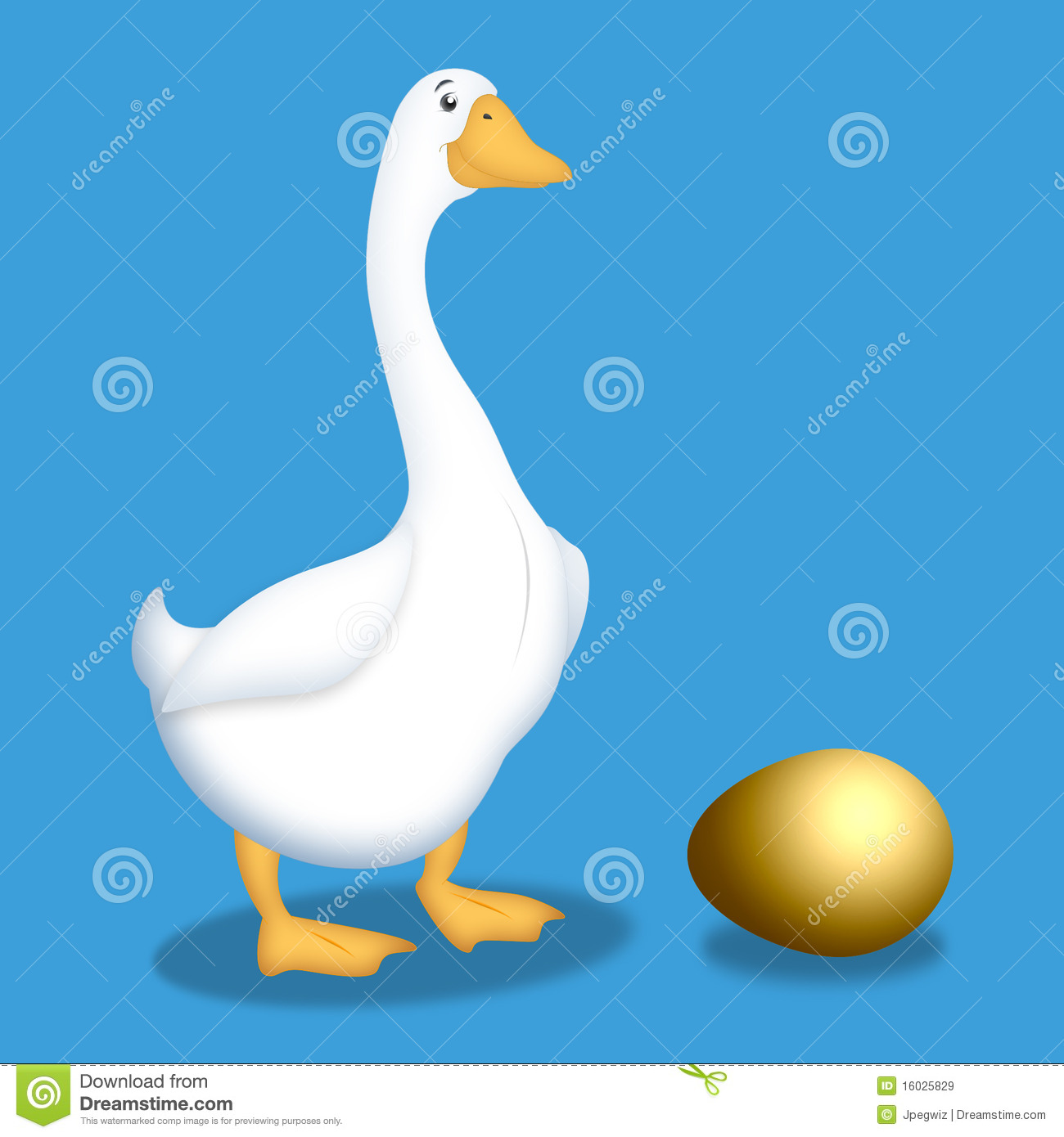 Goose With Golden Egg Royalty Free Stock Images   Image  16025829