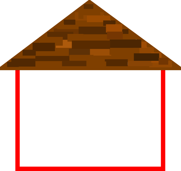 House Outline With Roof Clip Art At Clker Com   Vector Clip Art Online