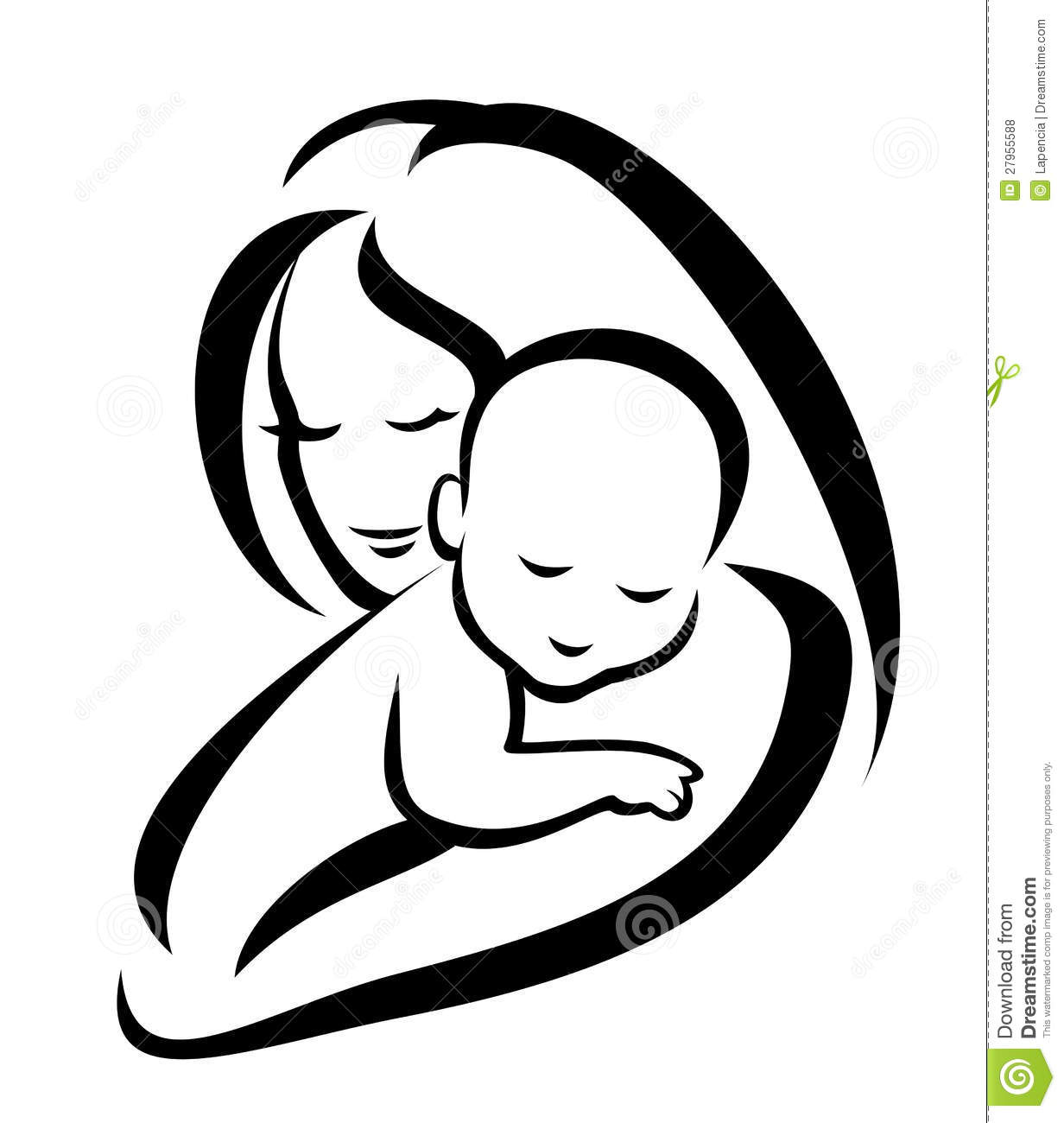 Mother And Baby Silhouette Royalty Free Stock Photos   Image  27955588