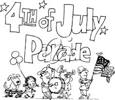 4th of July Parade Clip Art