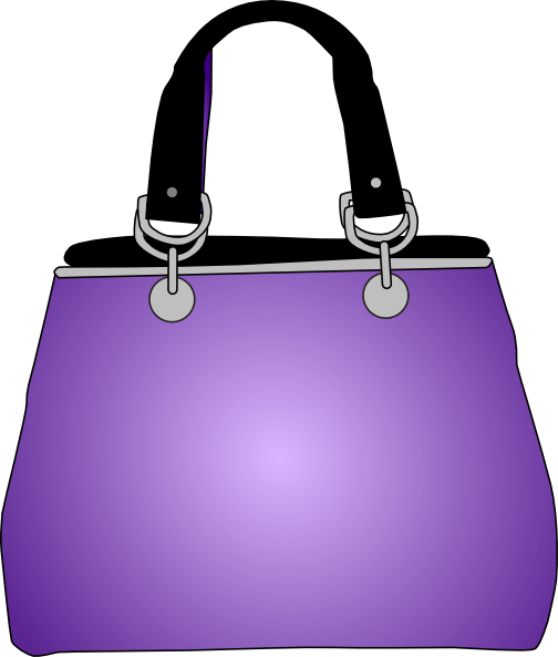 Purple Purse Handbag Clip Art At Clker Com   Vector Clip Art Online