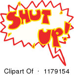 Royalty Free  Rf  Shut Up Clipart Illustrations Vector Graphics  1