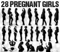 Vector Pregnant Women   All Silhouettes