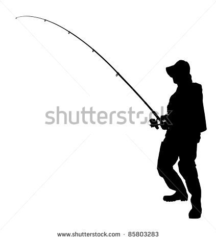 Bent Fishing Pole Clipart A Fishing Pole Isolated On