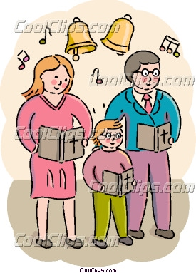 Congregation Singing Clipart