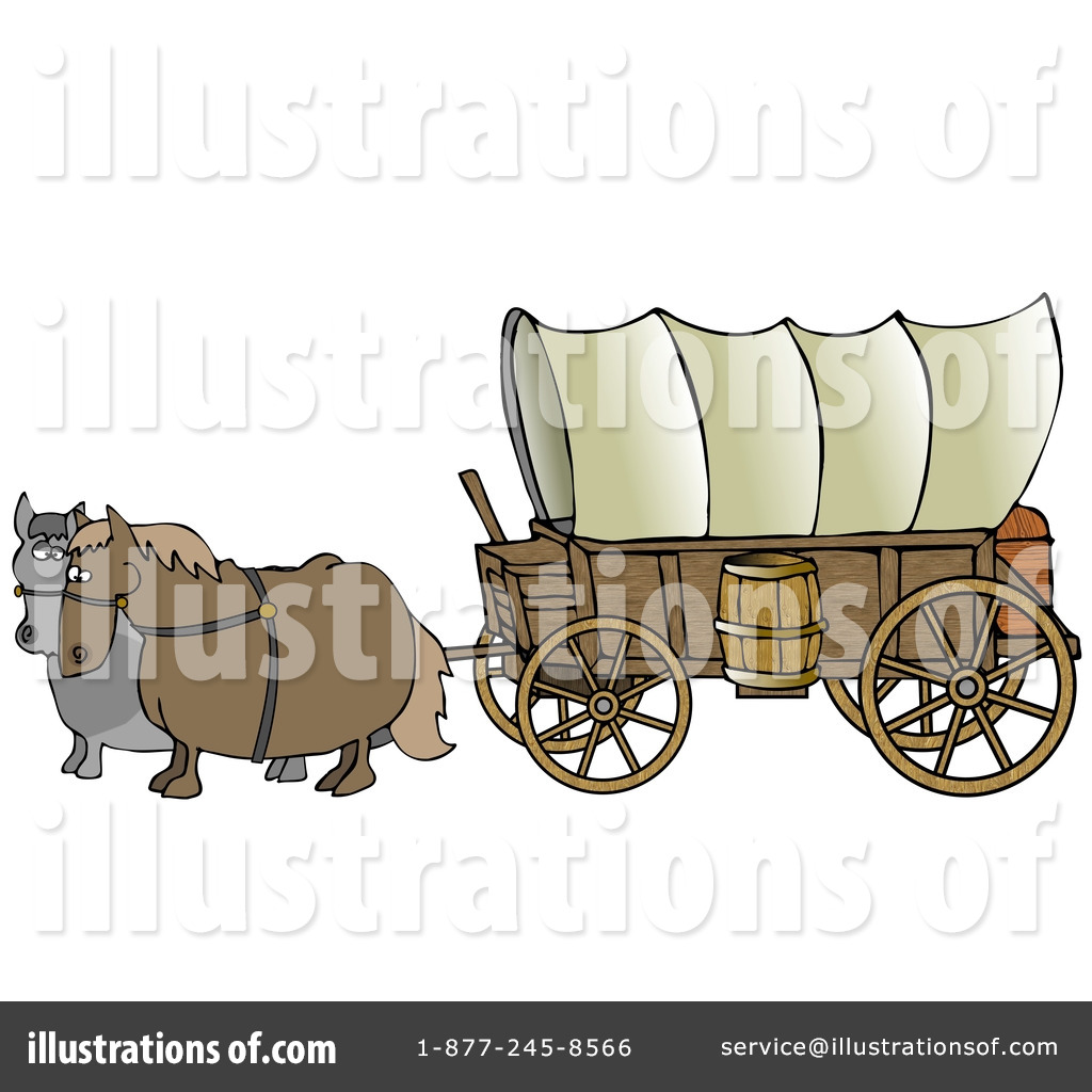 Covered Wagon Clip Art