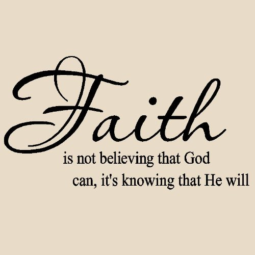 Faith Is Not Believing That God Can It S Knowing That He Will Vinyl