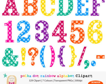Polk A Dot Number 1 Clip Art Polka Dot Number Clipart