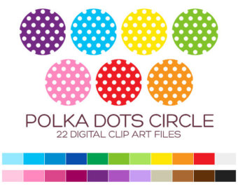 Polka Dots Circle Clipart For Personal   Commercial Usage   22 Digital