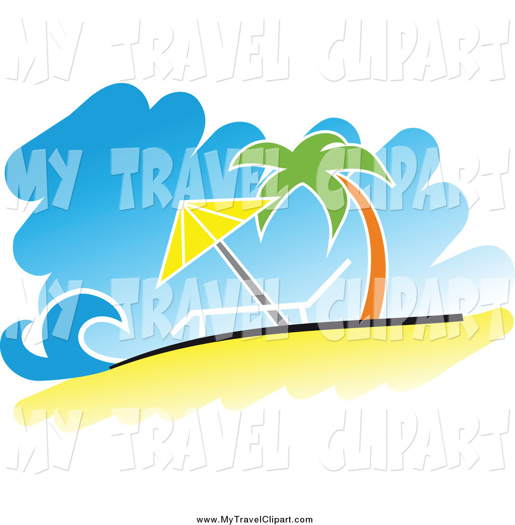 Royalty Free Clipart Of A Tropical Beach This Beach Stock