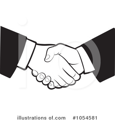 Royalty Free  Rf  Handshake Clipart Illustration By Lal Perera   Stock