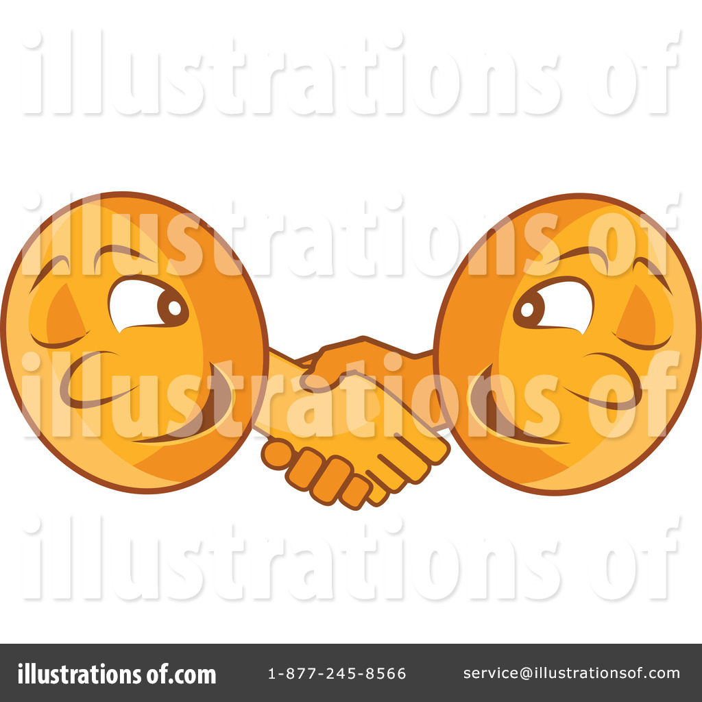Royalty Free  Rf  Handshake Clipart Illustration By Vitmary Rodriguez