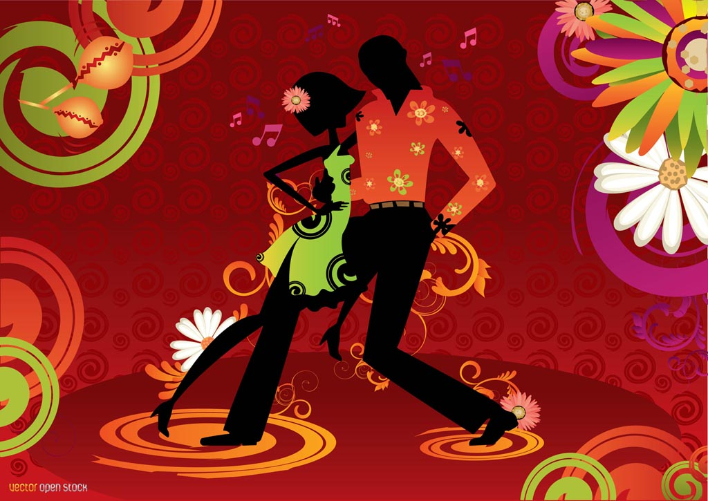 This Salsa And Latin Dance Inspired Background Design Has A Couple On