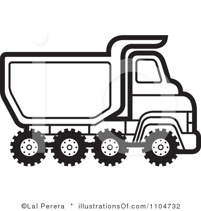 Clipart Black And White Truck Clip Art Royalty Free Dump Truck Clipart