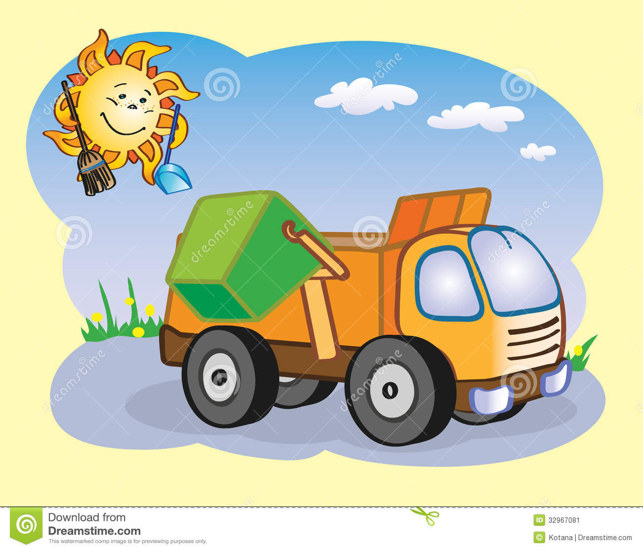 Displaying 17  Images For   Cartoon Dump Truck Clipart