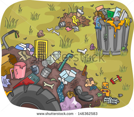 Dump In A Field Shutterstock  Eps Vector   Illustration Of Waste Dump