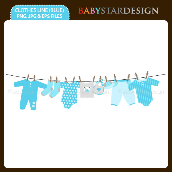 Etsy Combaby Clothesline Blue
