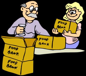 Food Pantry Volunteer Clipart