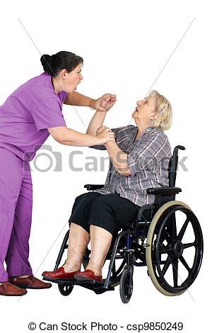 Elder Abuse Clip Art