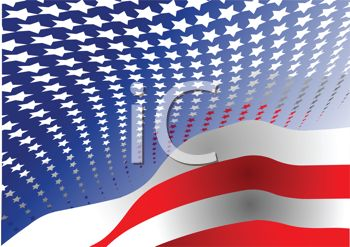 Patriotic Flag Background Of Stars And Stripes   Royalty Free Clip Art
