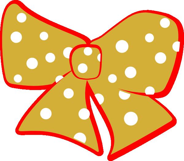 Red Gold Cheer Bow Clip Art At Clker Com   Vector Clip Art Online