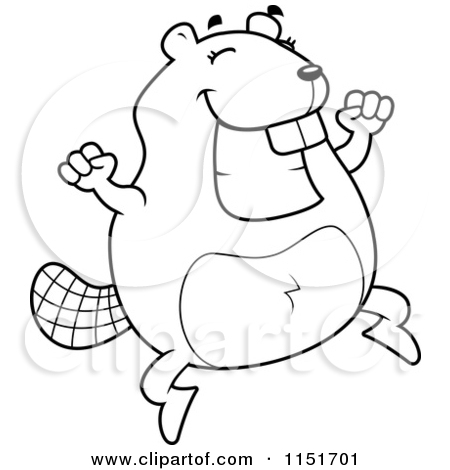 Royalty Free  Rf  Jumping Beaver Clipart Illustrations Vector