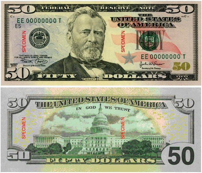 how to change a dollar to a 100 dollar bill