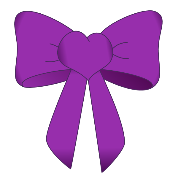 Bow Purple1 Free Graphics Png