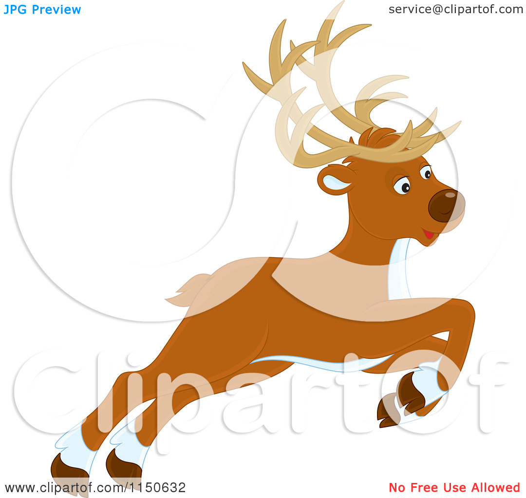 cartoon reindeer clipart clipart kid