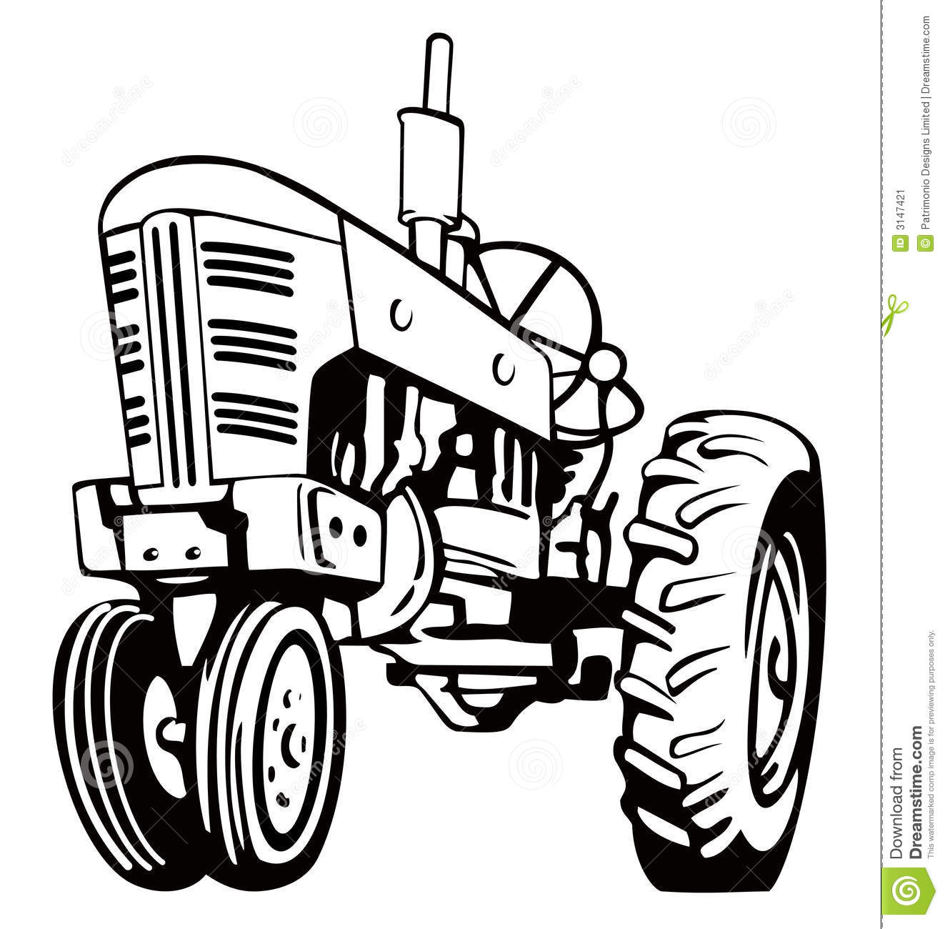 Farm Tractor Clipart Black And White Images   Pictures   Becuo