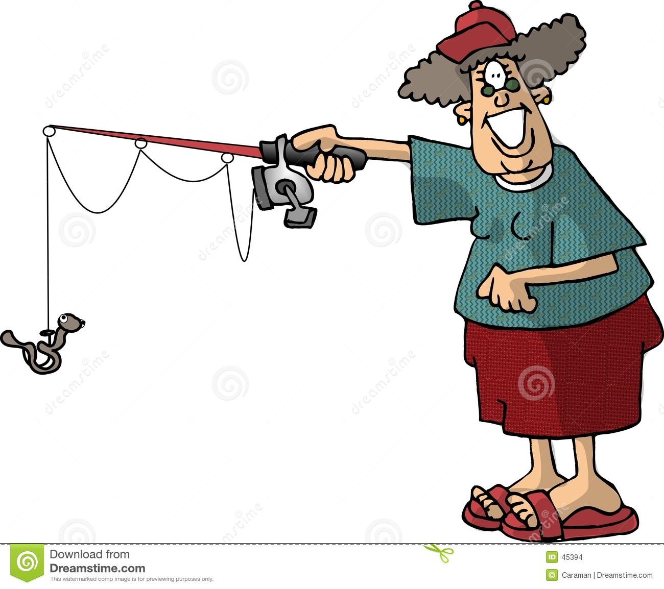 Female Fishing Clipart - Clipart Suggest