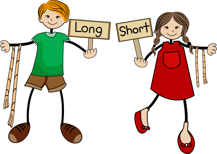 Long And Short Clipart - Clipart Kid