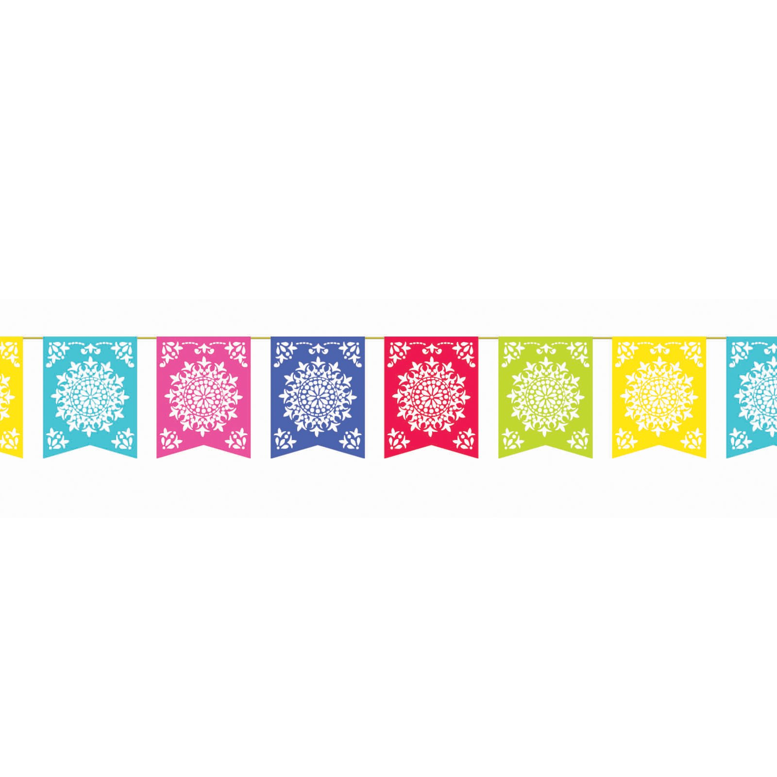 Papel Picado Banner Clipart Mexican Paper Banner   Viewing