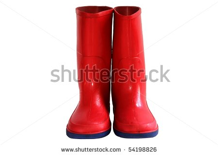 Red Rain Boots Clipart Child S Red Rain Boots   Stock