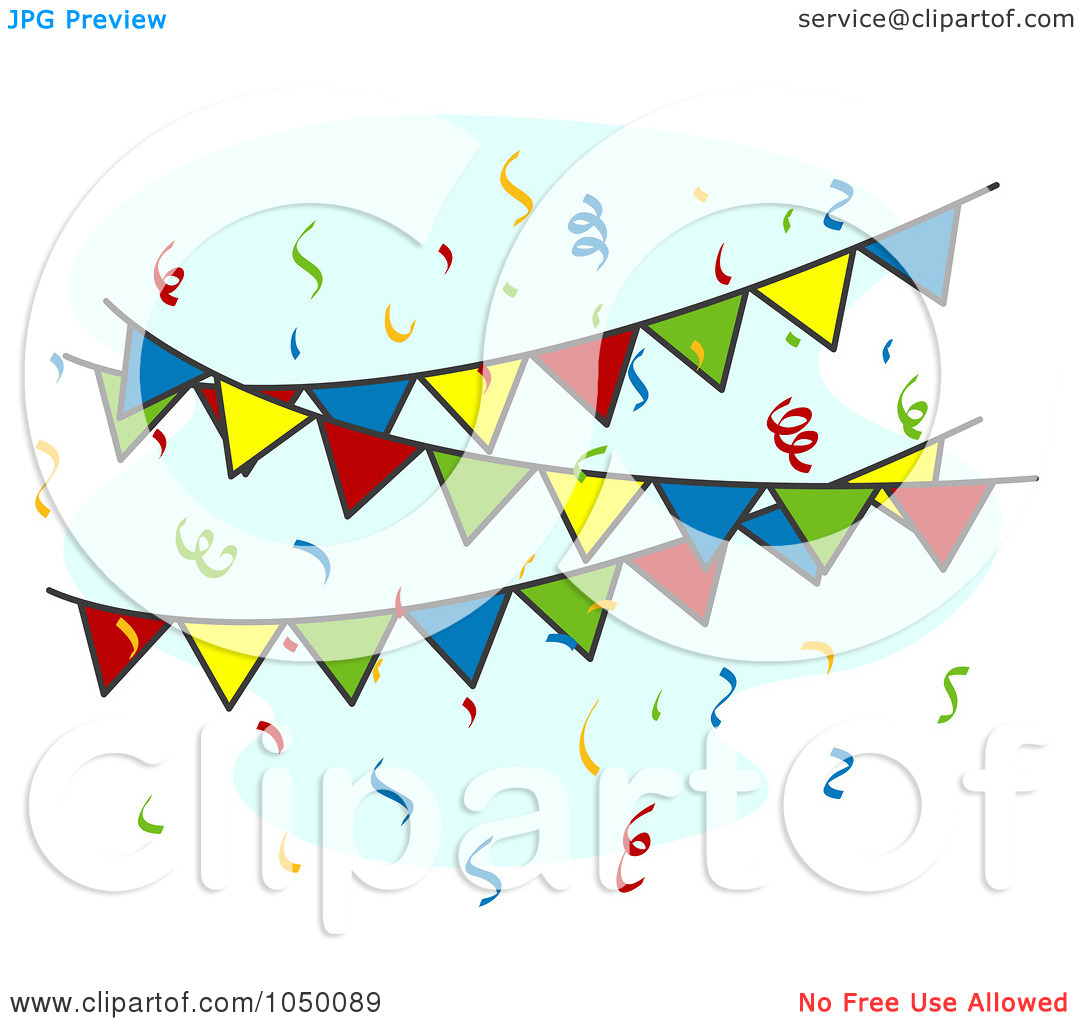 Royalty Free  Rf  Clip Art Illustration Of Colorful Fiesta Pennant