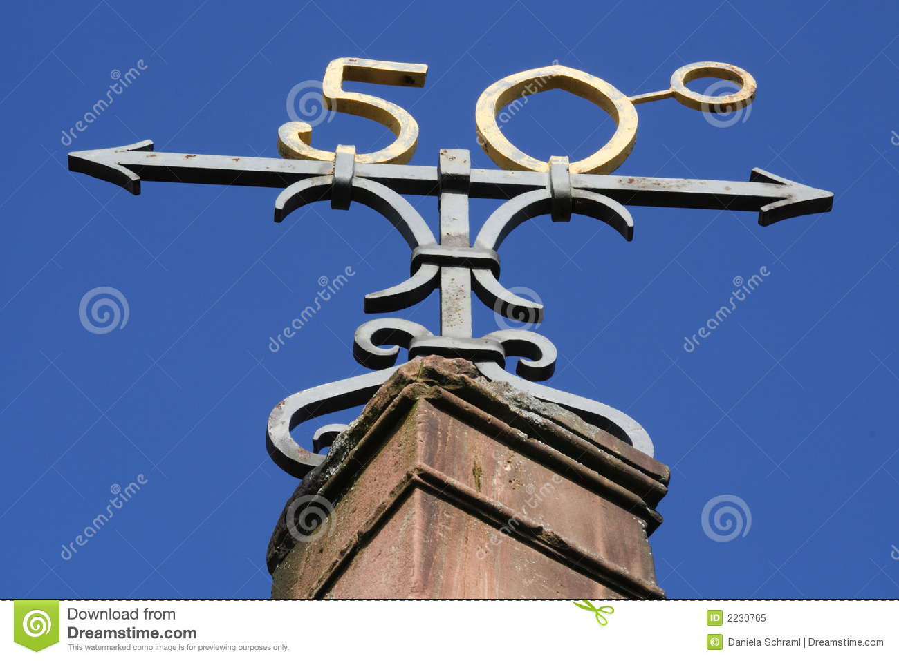 Royalty Free Stock Photo  Symbol Of The 50th Degree