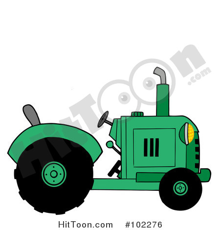 Tractor Clipart  102276  Green Farm Tractor By Hit Toon
