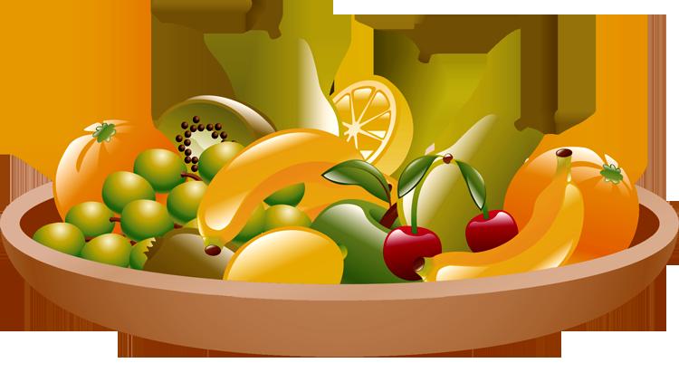 Fruit Bowl Clipart - Clipart Kid