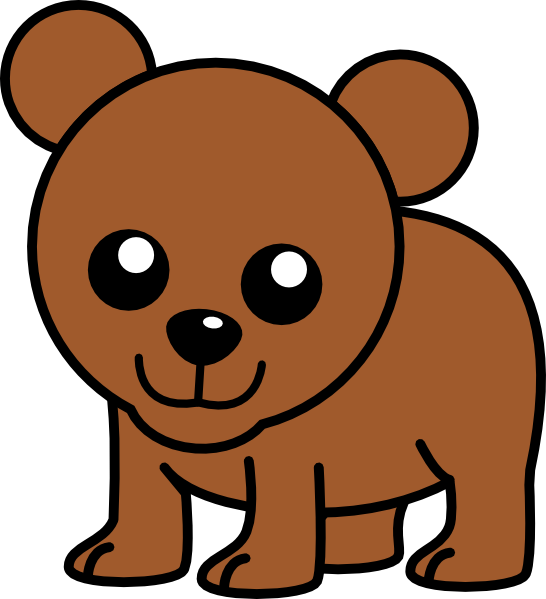 Cute Brown Bear Clipart - Clipart Suggest