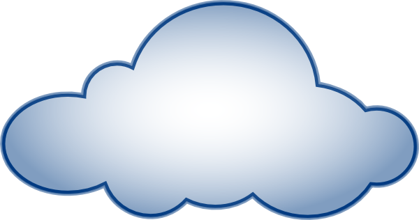 Blue Cloud Clip Art At Clker Com   Vector Clip Art Online Royalty