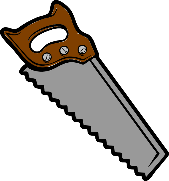 Brown Gray Saw Clip Art At Clker Com   Vector Clip Art Online Royalty